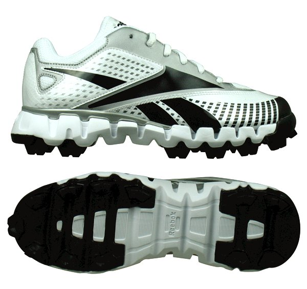 a113d61a711   NEW   REEBOK JR ZIG COOPERSTOWN MR YOUTH CLEATS WHT BLK